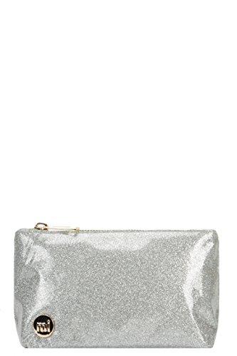 Mi-Pac Mi-Pac Make Up Bag Glitter Pochette per trucco, 20 cm, Grigio (Glitter Silver)