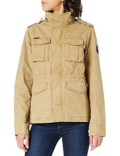 Superdry Womens M65 Jacket, Classic Tan, M