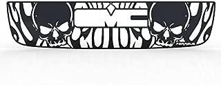 Ferreus Industries Grille Insert Guard Skull Flame Black Powdercoat fits: 2003-2006 GMC Sierra TRK-131-10-Black-a