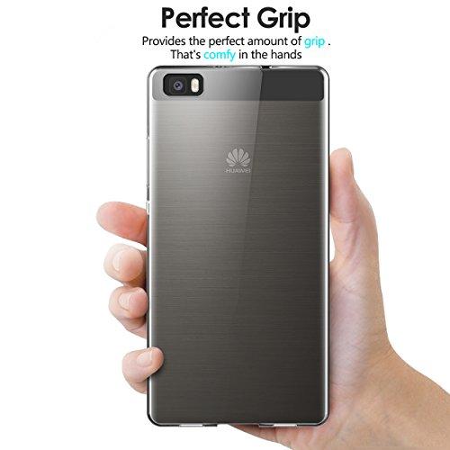 AICEK Huawei P8 Lite Hülle Case, Ultra-Clear P8 Lite Case Silikon Soft TPU Crystal Clear Premium Durchsichtig Handyhülle Schutzhülle Case Backcover Bumper Slimcase für P8 Lite - 3