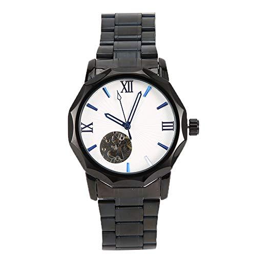 DAUERHAFT Reloj de Pulsera para Hombre, Reloj de Moda de Acero Inoxidable para Hombre, Reloj de Pulsera mecánico automático, Adecuado para participar en Actividades o llevarlo en la Vida Diaria