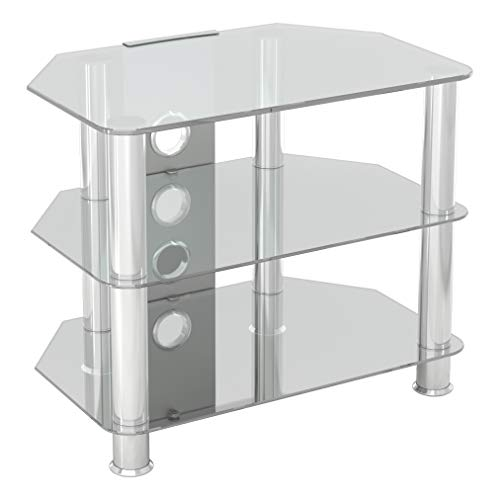 """mahara Clear Glass TV Stand - 60cm - for TVs up to 32"""""""