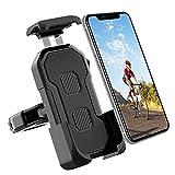 自転車 スマホホルダー バイク スマホホルダー 1秒ロックアップ 360度回転可能 振れ止め 脱落防止 盗難防止 4.5-7インチiPhone Androidスマホ対応