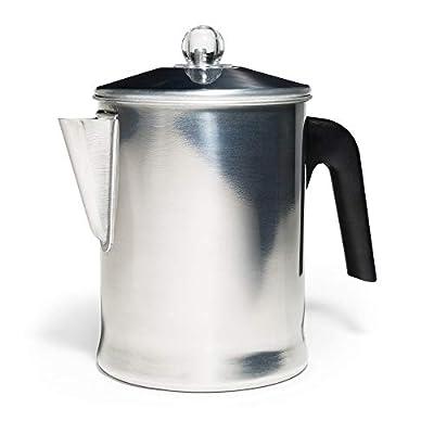 Primula TPA-3609 Today Aluminum Stove Top Percolator Maker Durable, Brew Coffee On Stovetop, Grill Or Campfire