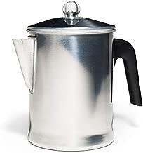 Primula Today Aluminum Stove Top Percolator Maker Durable, Brew Coffee On Stovetop, 9 Cup