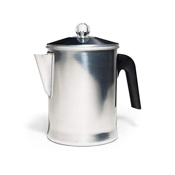 Primula Aluminum Stove Top Percolator, Brew Coffee On Stovetop / Campfire, 9 Cup