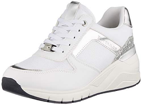 TOM TAILOR Damen 112080360 Sneaker, White,38 EU