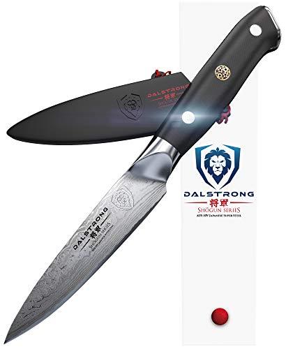 DALSTRONG  Paring Knife  35quot  Shogun Series  Damascus  AUS10V Japanese Super Steel  Vacuum Treated  w/Sheath