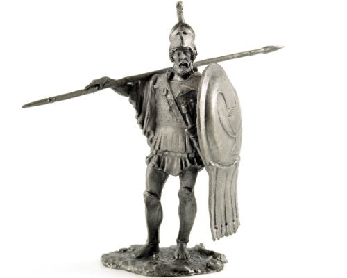 Tin toy soldiers. Athenian Hoplite, 490 BC. Metal sculpture, statue. Collection 54mm (scale 1/32) miniature figurine by Tin Warriors