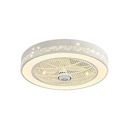 CAIMEI Ventilador Led Invisible Droplight Ventilador Candelabro Restaurante Luz Colgante Luz de Techo Regulable con Control Remoto para Sala de Estar Dormitorio Niños Lámpara de Ventilador
