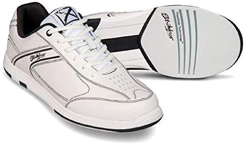 EMAX KR Strikeforce Flyer Bowling-Schuhe Damen und Herren, für Rechts- und Linkshänder in 4 Farben Schuhgröße 38,5-48 mit gratis Schuh-Deo Titania Foot Care (Weiß, US 13 (45,5))