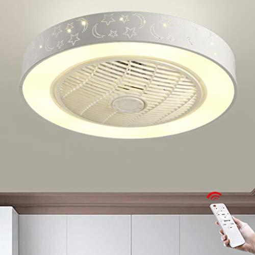 Ventiladores De Techo Con Iluminación, Ventilador Moderno Lámpara De Techo Con Ventilador LED Regulable Con Control Remoto Sala De Estar Ultra Silenciosa Dormitorio Sala De Decoración Iluminación,B