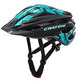 Cratoni Pacer MTB - Casco de ciclismo (49-55 cm), color negro y turquesa