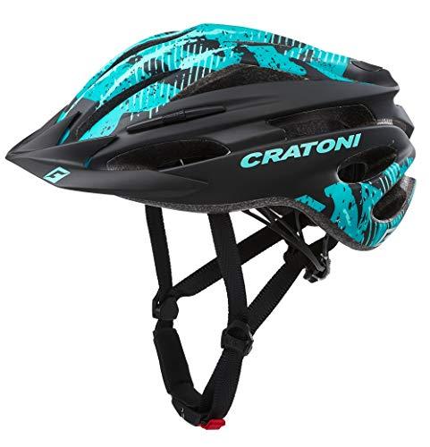 Cratoni Pacer Fahrradhelm MTB Allroundhelm (Black Turquoise, S-M (54-58 cm))