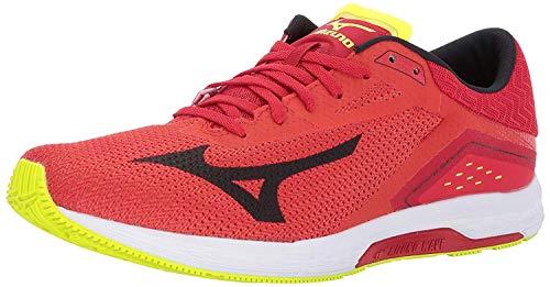 Mizuno Wave Sonic Zapatillas de correr para hombre, Rojo (Granadina/Negro/Amarillo Seguridad), 40 EU