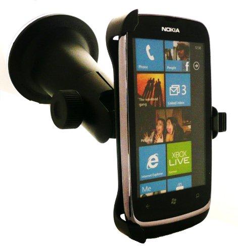 Emartbuy® Premium Multi Angle Dedicated Saug-Halterung Maßgeschneidert für Nokia Lumia 610 Messen