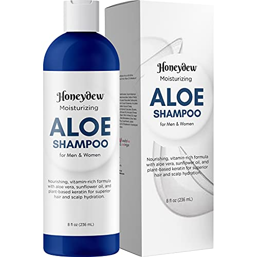 Aloe Vera Shampoo with Sunflower & Keratin - Natural Hydrating Shampoo for Soft & Shiny Hair - Sulfate Free for Color Treated Hair - Men & Women (8oz)