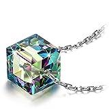 Alex Perry Regalo collana verde scuro cristalli argento 925 regali per lei gioielli donna regali natale compleanno per le donne ragazze amica mamma lei
