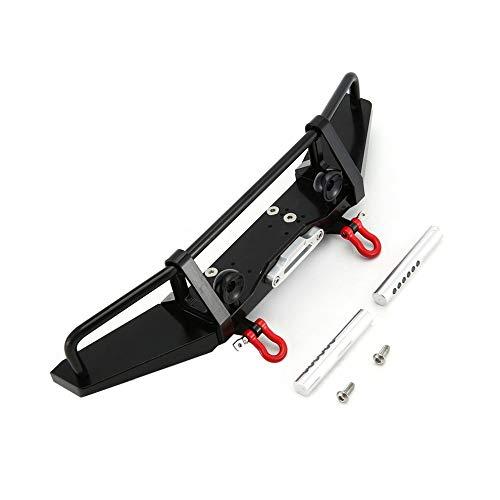 Schwarz 1/10 Frontschürzen Buggy Bumpers Fahrzeug Pressformausruestung Aluminiumlegierung Anti-Collision-Stoßdämpfer für SCX10 Ii 90046 90047