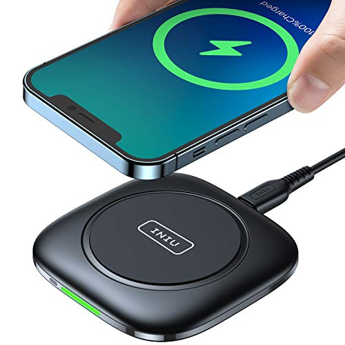 INIU Wireless Charger, 15W Qi-Certified Fast Wireless Charging Pad...