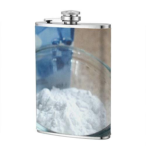 Backpulverbox Weißes Pulver Natriumbikarbonat 8OZ Kupferbeschichteter Edelstahl-Flachmann für Alkohol