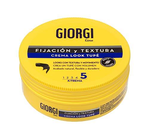 Giorgi Line - Crema Look Tupé para un Tupé con Volumen, Textura y Movimiento, Acabado Natural, Flexible y Duradero, Fijación 5 Xtrema - 125 ml