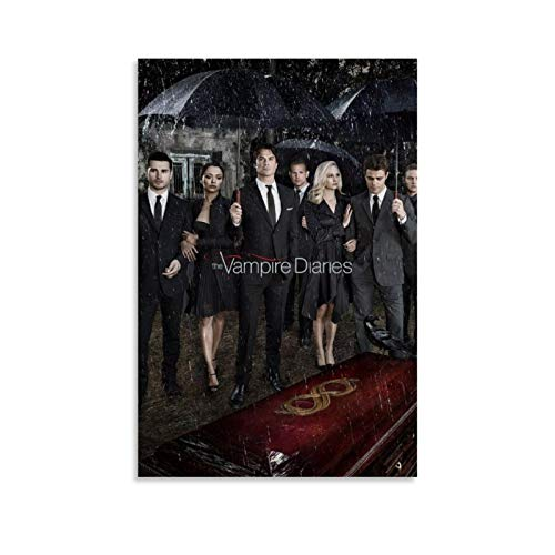 RTYTR TV Show Character The Vampire Diaries TVD Stefan Damon Elena Poster Poster Decorative Painting Canvas Wall Art Living Room Posters Bedroom Painting 12x18inch(30x45cm)