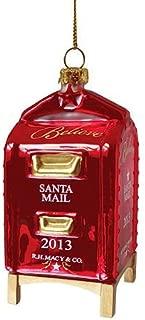 Macy's Yes Virginia Mailbox Glass Christmas Ornament 2013 Edition