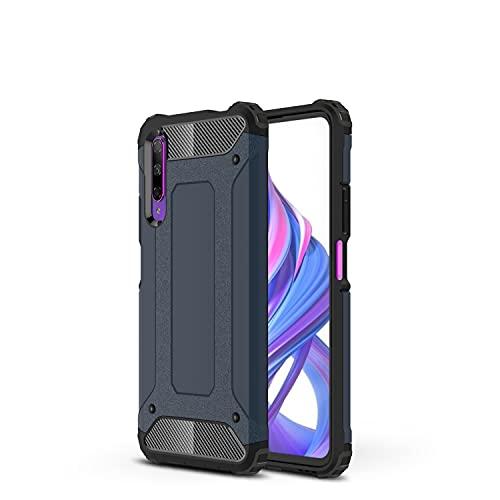 ZHANGHUI Funda Protectora Estuche Protector para Huawei Honor 9X / 9X Pro / Y9S / P Smart Pro Case TPU + PC Parachoques Dual Capa de Doble Capa Protectora híbrida Hybrid Caja Resa (Color : Navy)