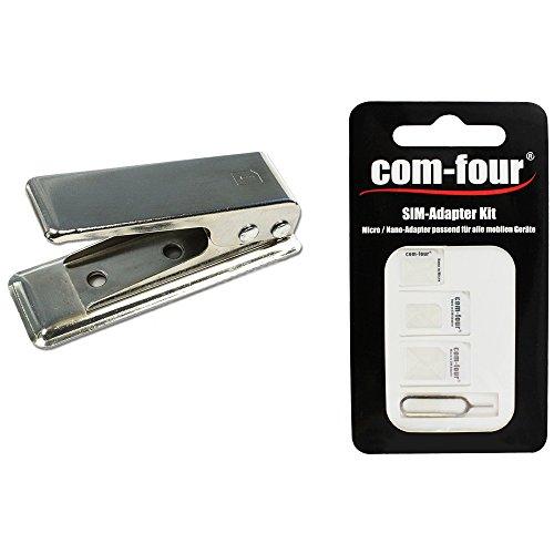com-four® SIM zu Nano SIM-Karten Cutter Stanzer Schneider für iPhone 6 7 8 X XS 10 iPad Air Pro Mini Galaxy S8 S9 S10 huawai p20 (Nano Cutter)