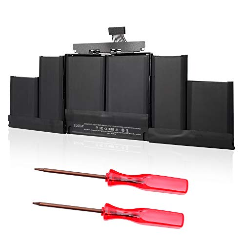 "SLODA Batteria per MacBook Pro 15"" Retina A1417 A1398 (Metà 2012 Inizio 2013) Batteria di Ricambio [Li-Polymer 11.4V 8800mAh]"