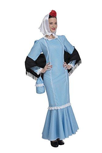 Disfraz de Madrileña Chulapa Azul (Talla M/L)