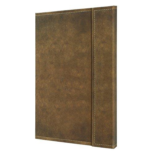 SIGEL CO609 Notizbuch, ca. A4, kariert, Design Vintage, Leder-Look, Magnetverschluss, braun, 194 Seiten, Conceptum - große Auswahl