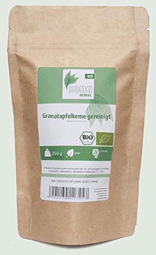 SENA-Herbal Bio - ganze Granatapfelkerne gereinigt- (250g)