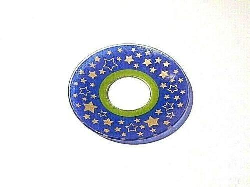 Gaide und Petersen Tropfenfänger Tropfschutz aus Glas Modern Line blau Wachsfänger Kerzenmanschette (11007)