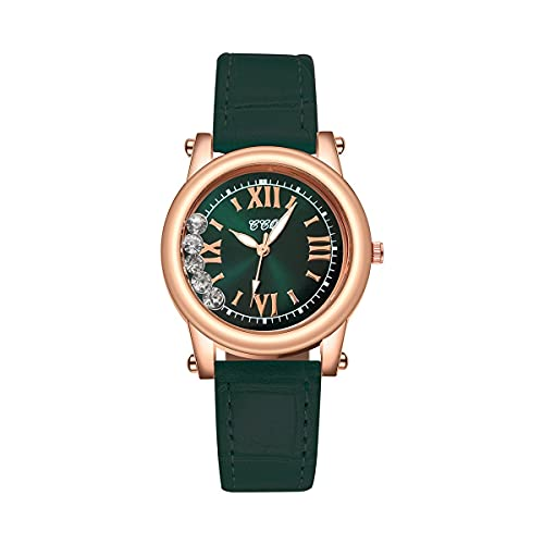 CXJC Dial Creative Ball Dial Elegant Ladies Watch. Madre Romana Shell Face Reloj de Las señoras. Sub-Esfera Redonda de 36 mm (Color : Re)