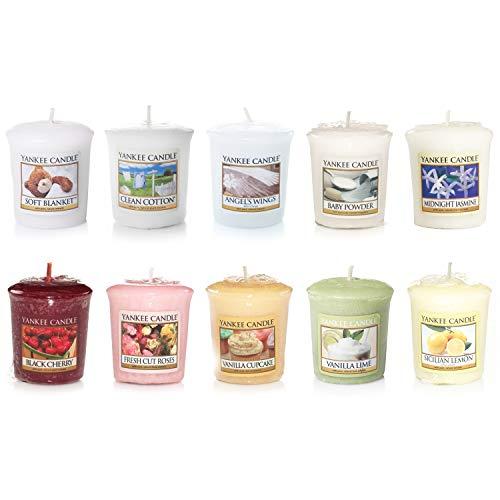 Yankee Candle Duftkerze Sampler/Votivkerze Kerzen und Votivglas-Sets, Votive Samplers Set of 10