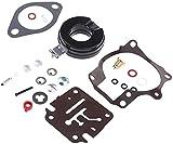 Kit de reconstrucción de carburador de combustible de aluminio para motor fueraborda Johnson Evinrude 20HP30HP 40HP 50HP Kit de juntas de motor fueraborda