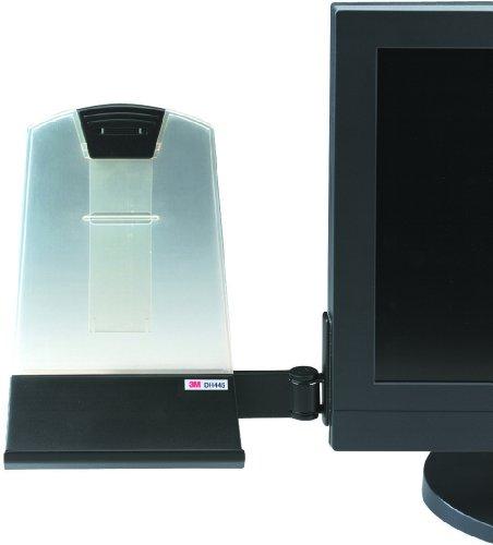 3M DH445 soporte para fijar en lateral del monitor . Hasta 35 hojas. Clip de ajuste en altura