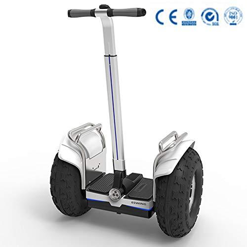 Elektroroller Persönlicher Transport Zweirad Selbstausgleich 2400W Balance Auto, Silber