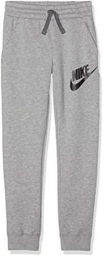 Nike Jungen B NSW Pant Club FLC HBR Sport Trousers, dk Grey Heather/Black, S