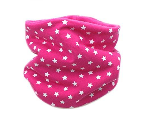 Kleine Könige Kleine Könige Loop Schal Kinder Mädchen bis 8 Jahre · Modell Sterne pink · Innen Fleece pink · Made in Germany