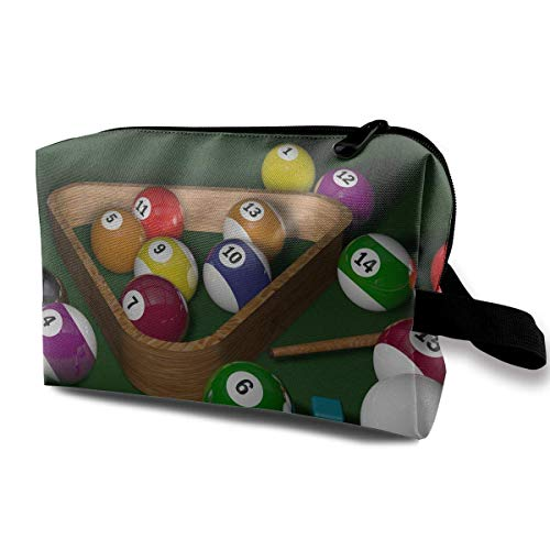 Billiards Toiletry Bag Waterproof Fabric Cosmetic Bags Travel Case For Women's Accessories