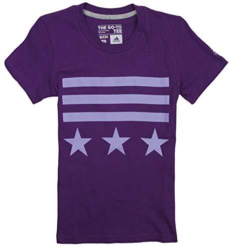 adidas Big Girls Bars and Stars - Camiseta de manga corta -  Morado -  Small