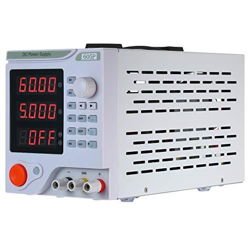 KKmoon Fuente de alimentación 0-60V 0-5A 4 dígitos Pantalla LED de CC programable Fuente eléctrica de alta precisión Variable ajustable 0-60V 0-5A de conmutación Regulación digital del laboratorio