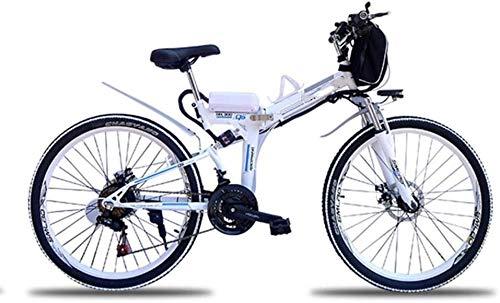 RVTYR Montagna Pollici Bicicletta di 60 km 35 km/H Bici elettrica Pieghevole Walking 500 W di Potenza del Motore a Doppia Shock Ebike, Nero, 26 Bici