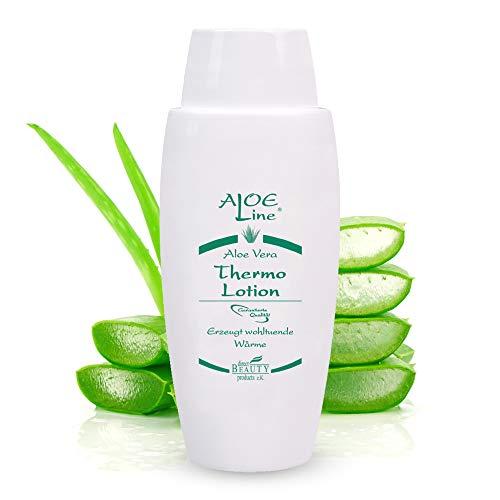 Aloe Vera Thermo Lotion - lindert Gelenkschmerzen & Zerrungen - wirkt aktiv durchblutungsfördernd - enthält Aloe Vera, Menthol, Minzöl, Avocadoöl & Sesamöl / 1er Pack (1 x 100 ml)