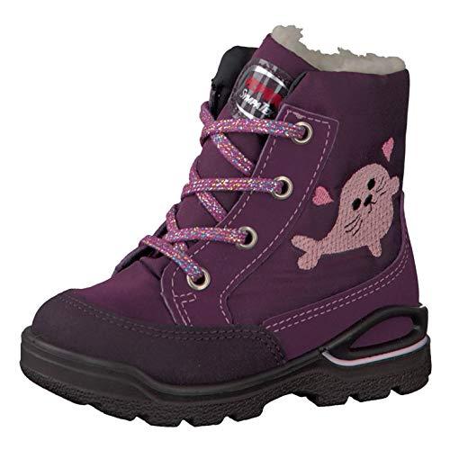 RICOSTA Pepino Mädchen Winterstiefel Lilly, WMS: Weit, wasserfest, Spielen Freizeit Winter-Boots Outdoor-Kinderschuhe warm,Merlot,23 EU / 6 UK