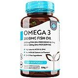 Omega 3 Olio di Pesce da 2000 mg - 660 mg EPA e 440 mg DHA per Porzione - 240 SoftGel Capsule di Olio di Pesce Puro - Fornitura per 4 Mesi - Prodotto nel Regno Unito da Nutravita
