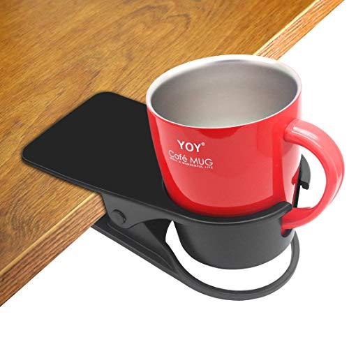 Soporte para taza de bebida, diseño de clip para mesa de cristal...
